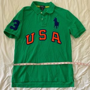 Polo Ralph Lauren cotton green shirt Kids L 14-16